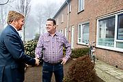 Koning Willem Alexander met staatssecretaris Blokhuis op werkbezoek bij dak- en thuislozenopvang in Weert