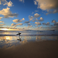 One more wave, sunset surfing at Gwithian, Cornwall