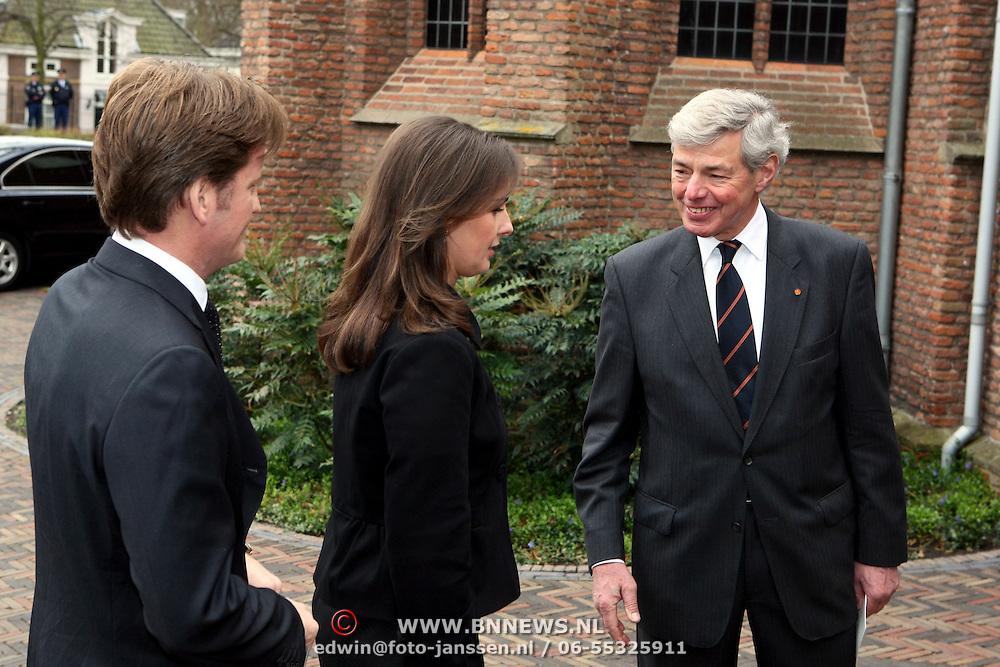 NLD/Wassenaar/20080403 - Herdenkingsdienst Erik Hazelhoff Roelfzema, prins Pieter - Christiaan en prinses Anita