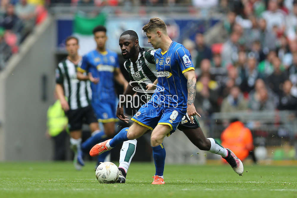 AFC Wimbledon midfielder Jake Reeves (8) during the Sky Bet League 2 play off final match between AFC Wimbledon and Plymouth Argyle at Wembley Stadium, London, England on 30 May 2016.