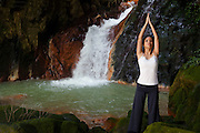 Yoga at the falls.