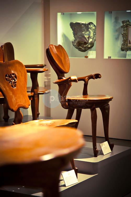 Chair of Casa Calvet by Antoni Gaudi. 1903. Museum Modernism art of Catalonia, Barcelona, Spain ©Carlos Sánchez Pereyra / PILAR REVILLA