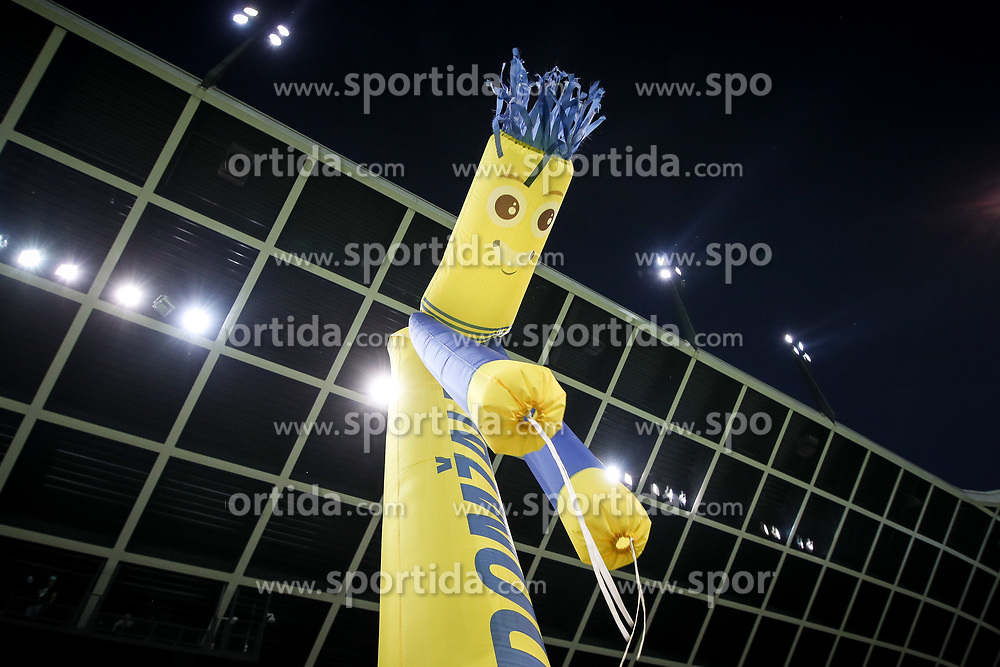 Inflatable mascott during football match between NK Domzale and Olympique de Marseille in First game of UEFA Europa League playoff round, on August 17, 2017 in SRC Stozice, Ljubljana, Slovenia. Photo by Morgan Kristan / Sportida