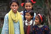 Nepali girls with bubble gum