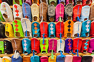 Colorful moroccan babouches shoes.