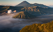 Mount Bromo volcano at dawn in Java (Indonesia)
