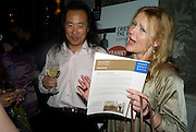 YANG LIAN AND MIRANDA RICHARDSON,  'Cries from the Heart' presented by Human Rights Watch at the Theatre Royal Haymarket. London. Party afterwards at the Haymarket Hotel. June 8, 2008 *** Local Caption *** -DO NOT ARCHIVE-© Copyright Photograph by Dafydd Jones. 248 Clapham Rd. London SW9 0PZ. Tel 0207 820 0771. www.dafjones.com.