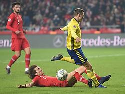 November 17, 2018 - Konya, Türkiye - Sweden's Viktor Claesson and Turkey's Caglar Soyuncu during Turkey vs. Sweden UEFA Nations League, League B game at Konya, Turkey, 17th Nov., 2018 (Credit Image: © Hikmet Saatci/Depo Photos via ZUMA Wire)