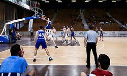 Tim Tomazic of Sentjur during basketball match between KK Nutrispoint Ilirija and KK Sentjur in Round #3 of Nova KBM League 2021/22, on October 18, 2021 in Hala Tivoli, Ljubljana, Slovenija. Photo by Vid Ponikvar / Sportida