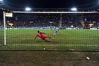 Goal Mourad Nasrallah / Brice SAMBA - Seance Tir au But - 04.01.2015 - Grenoble / Marseille - Coupe de France<br /> Photo : Gaston Petrelli  / Icon Sport