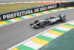 November 9, 2018 - Sao Paulo, Sao Paulo, Brazil - VALTTERI BOTTAS, of Mercedes AMG Petronas, drives during the free practice session for the Formula One Grand Prix of Brazil at Interlagos circuit, in Sao Paulo, Brazil. The grand prix will be celebrated next Sunday, November 11. (Credit Image: © Paulo LopesZUMA Wire)