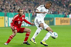 26.10.2011, Allianz Arena, Muenchen, GER, DFB Pokal, 2. Runde, FC Bayern Muenchen vs FC Ingolstadt, im Bild  Rafinha (Bayern #13) im Kampf mit Collin Quaner (Ingolstadt #11) // during the Pokal fight second Round from GER FC Bayern Muenchen vs FC Ingolstadt , on 2011/10/26, Allianz Arena, Munich, Germany, EXPA Pictures © 2011, PhotoCredit: EXPA/ nph/  Straubmeier       ****** out of GER / CRO  / BEL ******