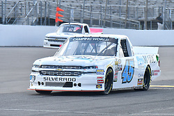 June 22, 2018 - Madison, Illinois, U.S. - MADISON, IL - JUNE 22:  Justin Fontaine (45) driving a Chevrolet for ProMatic Automation and Superior Essex warms up before  the Camping World Truck Series - Eaton 200 on June 22, 2018, at Gateway Motorsports Park, Madison, IL.   (Photo by Keith Gillett/Icon Sportswire) (Credit Image: © Keith Gillett/Icon SMI via ZUMA Press)