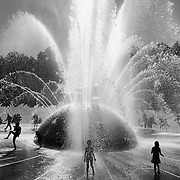 Fountain at the Seattle Center during the 2011 Bumbershoot Festival in Seattle