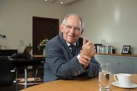23 FEB 2016, BERLIN/GERMANY:<br /> Wolfgang Schaeuble, CDU, Bundesfinanzminister, waehrend einem Interview, in seinem Buero, Bundesministerium der Finanzen<br /> IMAGE: 20160223-01-017<br /> KEYWORDS: Wolfgang Schäuble
