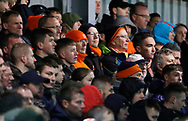 Blackpool fans during the EFL Sky Bet League 1 match between Fleetwood Town and Blackpool at the Highbury Stadium, Fleetwood, England on 25 November 2017. Photo by Paul Thompson.