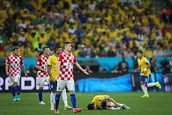 Oscar Emboaba na partida entre Brasil x Croácia, na abertura da Copa do Mundo 2014, no Estádio Arena Corinthians, em São Paulo. FOTO: Jefferson Bernardes/ Agência Preview