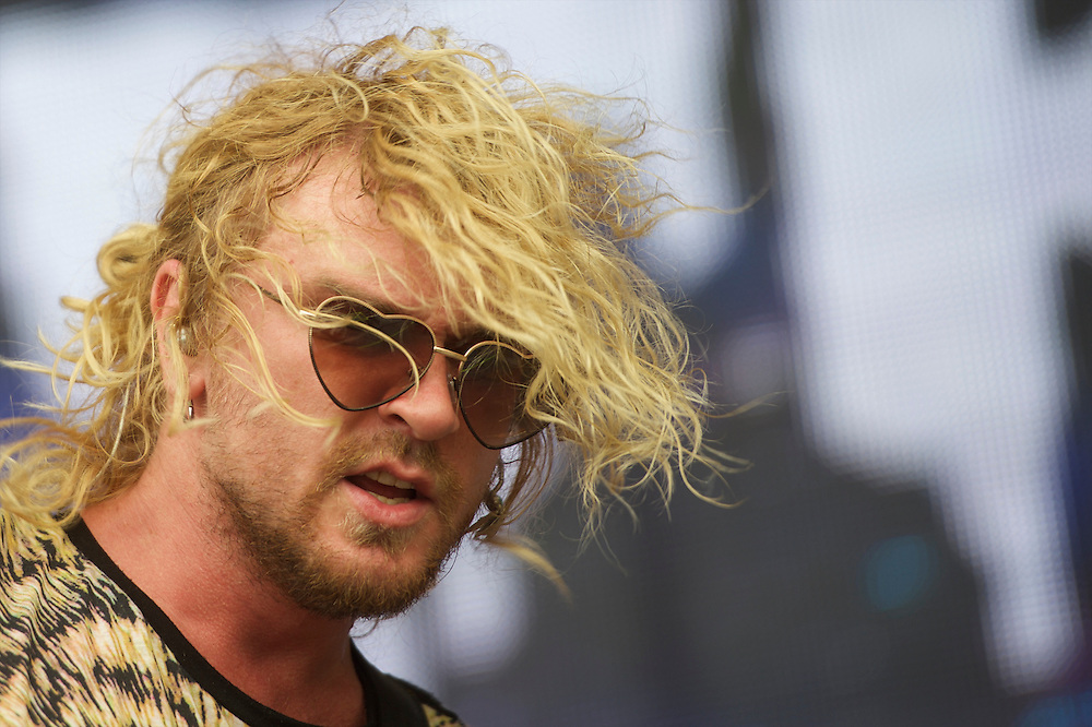 The Griswolds perform during the Firefly Music Festival in Dover, Delaware June 20, 2015.  According to organizers, attendance exceeded 90,000 for the four day festival, which featured more than 110 acts, and was set in 105 acre grounds of the Dover International Speedway.