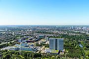 Nederland, Utrecht, Utrecht, 23-08-2016; Rijnsweerd, Provinciehuis Provincie Utrecht. <br /> Province House Province of Utrecht.<br /> <br /> aerial photo (additional fee required);<br /> copyright foto/photo Siebe Swart