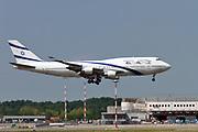 4X-ELB EL AL Israel Airlines, Boeing 747-400 at Malpensa (MXP / LIMC), Milan, Italy