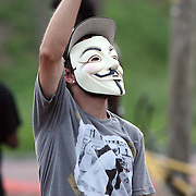 "A fan of the band Probable Cause dances at ""Camp Romney"", during the Republican National Convention in Tampa, Fla. on Wednesday, August 29, 2012. (AP Photo/Alex Menendez)"
