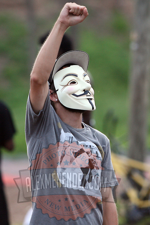 """A fan of the band Probable Cause dances at """"Camp Romney"""", during the Republican National Convention in Tampa, Fla. on Wednesday, August 29, 2012. (AP Photo/Alex Menendez)"""