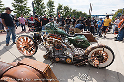 Ride-in custom bike show at the Harley-Davidson Museum, one of the official venues for the Milwaukee Rally. Milwaukee, WI, USA. Sunday, September 4, 2016. Photography ©2016 Michael Lichter.