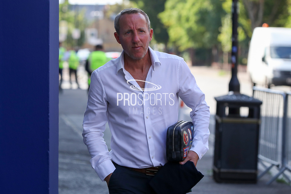 Charlton Athletic manager Lee Bowyer arriving for the game during the EFL Trophy Group O match between AFC Wimbledon and Charlton Athletic at the Kiyan Prince Foundation Stadium, London, England on 1 September 2020.