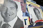Local election posters.