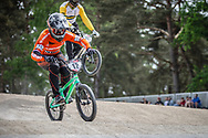 #12 (BENSINK Niels) NED during practice at Round 5 of the 2018 UCI BMX Superscross World Cup in Zolder, Belgium