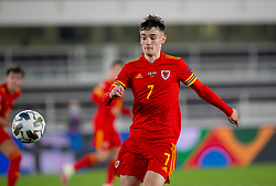 HELSINKI, FINLAND - Thursday, September 3, 2020: Wales' Dylan Levitt during the UEFA Nations League Group Stage League B Group 4 match between Finland and Wales at the Helsingin Olympiastadion. (Pic by Jussi Eskola/Propaganda)