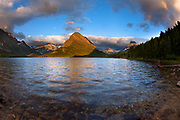 Sunrise on Swiftcurrent Lake, ,Glacier National Park.