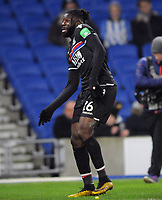 Football - 2017 / 2018 FA Cup - Third Round: Brighton & Hove Albion vs. Crystal Palace<br /> <br /> Bacary Sako of Palace celebrates scoring the equalising goal, at The Amex.<br /> <br /> COLORSPORT/ANDREW COWIE