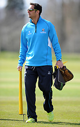 Somerset's Coach Jason Kerr - Photo mandatory by-line: Harry Trump/JMP - Mobile: 07966 386802 - 24/03/15 - SPORT - CRICKET - Pre Season Fixture - Day 2 - Somerset v Glamorgan - Taunton Vale Cricket Club, Somerset, England.