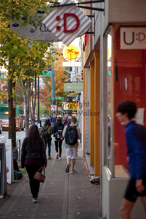 2016 October 10 - People along University Way in the University District, Seattle, WA, USA. By Richard Walker