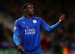 Jeffrey Schlupp of Leicester City gestures - Mandatory by-line: Matt McNulty/JMP - 22/11/2016 - FOOTBALL - King Power Stadium - Leicester, England - Leicester City v Club Brugge - UEFA Champions League