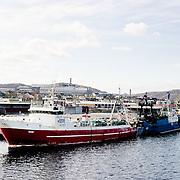 Three weeks aboard the Kong Harald. Hurtigruten, the Coastal Express. Russian fishing ships in Kirkenes.