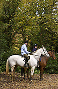 Young riders in Wychwood Forest, Oxfordshire, United Kingdom