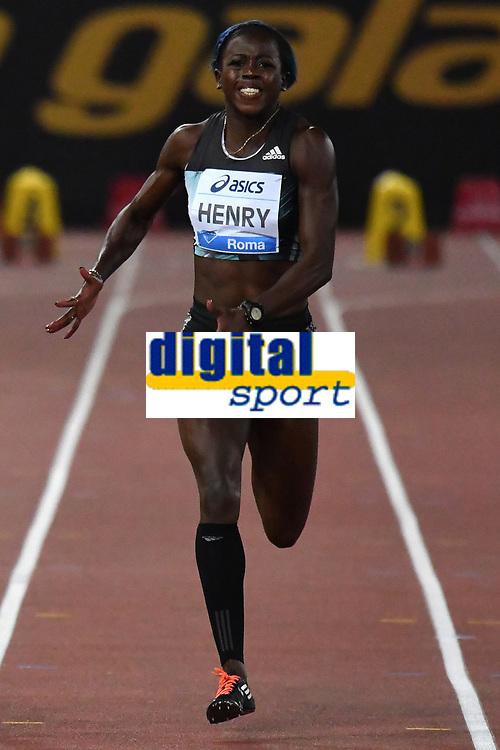 Desiree HENRY GBR 100m Women <br /> Roma 03-06-2016 Stadio Olimpico <br /> IAAF Diamond League Golden Gala <br /> Atletica Leggera<br /> Foto Andrea Staccioli / Insidefoto