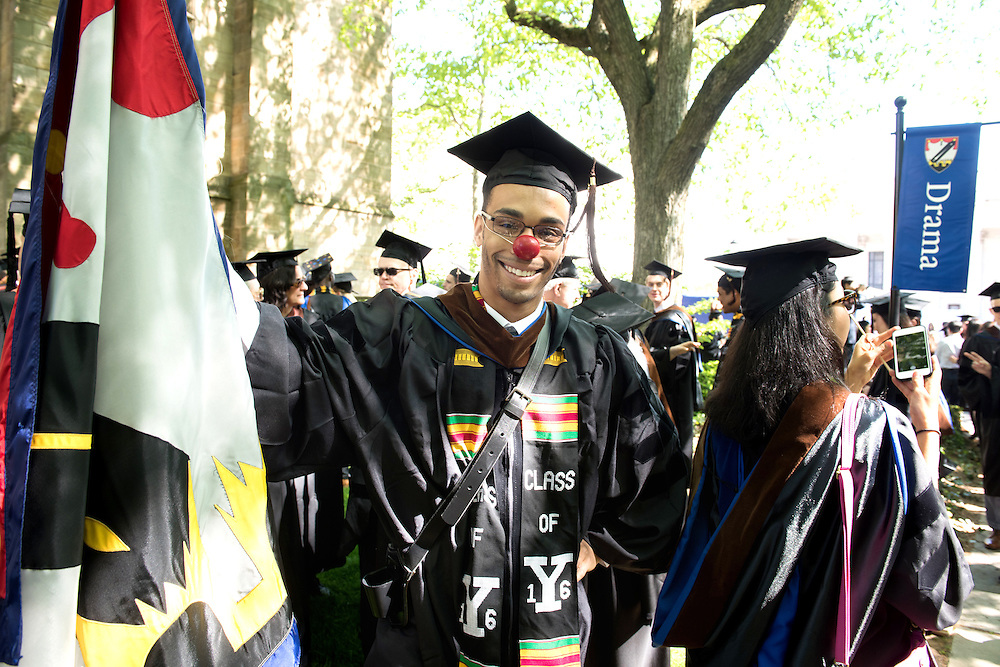May 23, 2016 New Haven<br /> The Yale University commencement exercises. Yale Drama School.