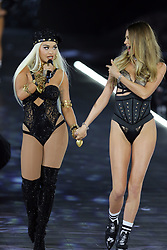 November 8, 2018 - New York, New York, United States - Rita Ora (L) and Bahati Prinsloo walk in the 2018 Victoria's Secret runway show at Pier 94 on November 8 2018 in New York City  (Credit Image: © Philip Vaughan/Ace Pictures via ZUMA Press)