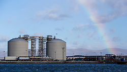 The port area where the new jetty will be built. Grangemouth refinery. The Sun had access to the plant for a 'year on' tale (last year the plant closed following strike action - this is an update piece).