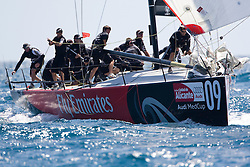 © Sander van der Borch. Alicante - Spain, May 13th 2009. AUDI MEDCUP in Marseille (12/17 May 2009). Race 2,3 and 4. Emirates Team New Zealand gybe to the finish.