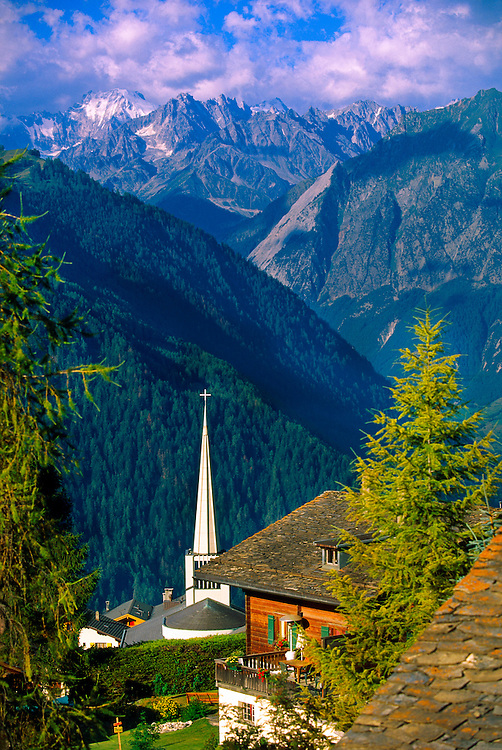 Overlooking the Swiss Alps from Verbier, Switzerland