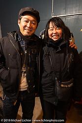 Hideaki and Yumiko Amino at SureShot after a ride around Chiba, Japan. Saturday, December 8, 2018. Photography ©2018 Michael Lichter.