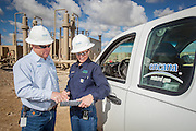 Technicians working at Encana's Jonah Field in Pinedale, Wyoming.