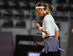 May 13, 2019 - Rome, ITALY - Victoria Azarenka of Belarus in action during her first-round match at the 2019 Internazionali BNL d'Italia WTA Premier 5 tennis tournament (Credit Image: © AFP7 via ZUMA Wire)