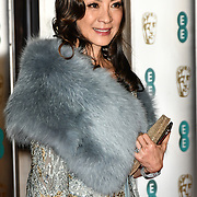 Michelle Yeoh Arrivers at EE British Academy Film Awards in 2019 after-party dinner at Grosvenor house on 10 Feb 2019.