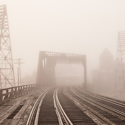 Rail Bridge in Fog, Holyoke, MA
