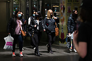A group of women are seen shopping in the CBD during the COVID-19 in Melbourne. With over a week of zero cases in Victoria, Premier Daniel Andrews is expected to make major announcements on Sunday about further easing of restrictions. (Photo by Dave Hewison/Speed Media)